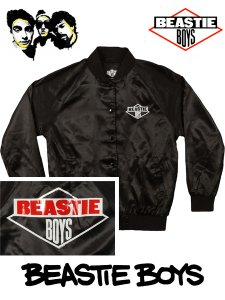 "Beastie Boys Official ""Diamond Logo"" Satin Jacket"