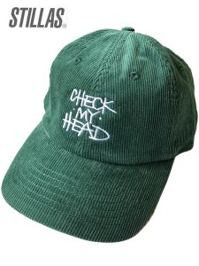 "Stillas ""CHECK MY HEAD"" Corduroy Strap Back Cap"