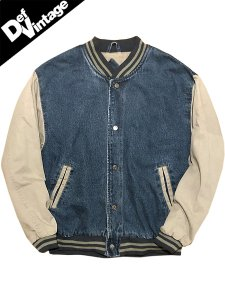 【VINTAGE】90's Denim Versity Jacket