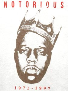 "The Notorious B.I.G. ""VINTAGE BIGGIE CROWN 72-97"" T-Shirt"
