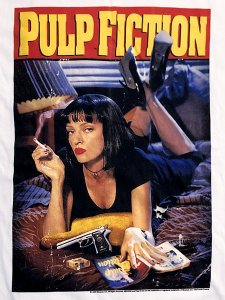 """Pulp Fiction """"MIA Poster"""" Official T-Shirt"""
