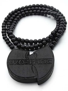 """WU LOGO"" Wood Beaded Necklace"