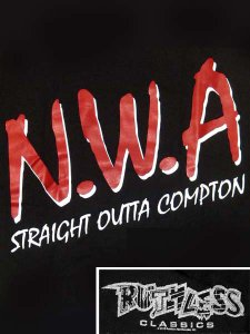 "RUTHLESS RECORDS, N.W.A. ""Straight Outta Compton"" T-Shirt"