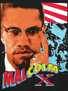Malcolm X Vintage Style T-Shirt