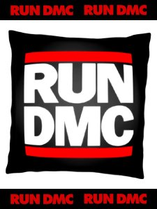 RUN DMC Classic Logo Official Cushion