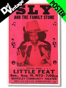 "【Dead Stock】 SLY And The Family Stone  with Little Feat Live 1973"" Poster"