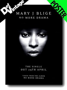 "'01 Mary J. Blige ""No More Drama"" Promotional Poster"