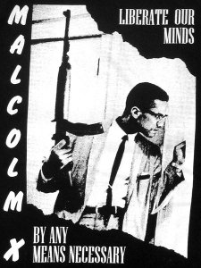 "Malcolm X ""By Any Means Necessary"" T-Shirt"