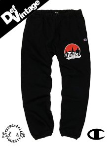 【Def Vintage】 CHAMPION × A TRIBE CALLED QUEST SWEAT PANTS BLACK