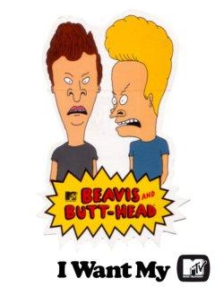 """""""BEAVIS & BUTT-HEAD"""" MTV Sticker"""