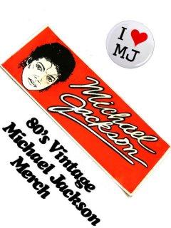 "1983 Vintage ""Michael Jackson"" Bumper Sticker"