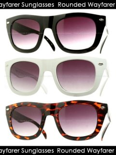 Rounded Wayfarer Sunglasses