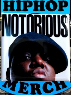 "The NOTORIOUS B.I.G. ""NOTRIOUS"" Can Badge"