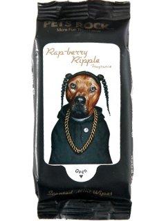"Pets Rock ""Snoop Dogg"" Rap Mini Wipes"