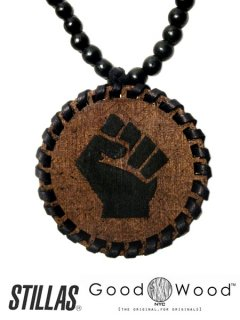 """POWER"" Good Wood NYC Beaded Necklace"