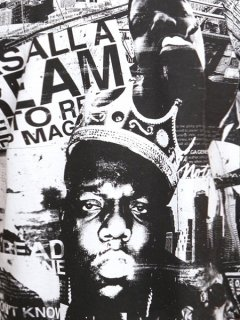 "THE NOTORIOUS B.I.G. ""JUICY"" ALLOVER PRINT T-SHIRT"
