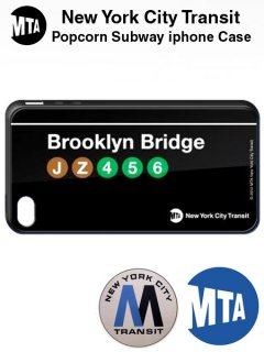 POPCORN BROOKLYN BRIDGE SUBWAY IPHONE CASE