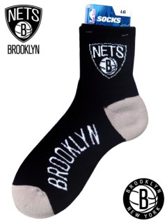 """Brooklyn Nets"" NBA Team Logo Quarter Sock"