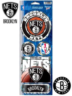 BROOKLYN NETS PRISMATIC STICKER SHEET