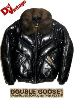 "DOUBLE GOOSE ""V BOMBER LEATHER JACKET"""