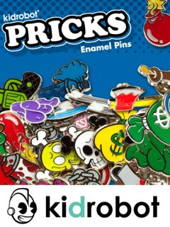 KIDROBOT PRICKS ENAMEL PIN SERIES 1-INCH