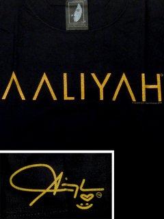 Aaliyah / T-shirts Logo Black