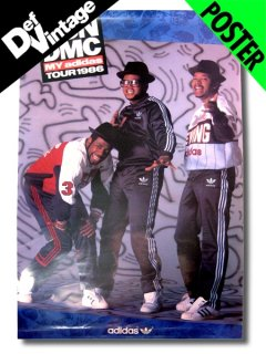 "1986 RUN DMC ""My Adidas Tour"" Poster"