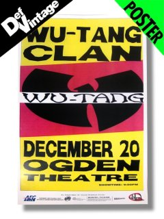 '07 Wu Tang Clan at The Ogden in Denver Poster