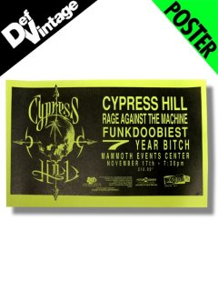 '93 Cypress Hill / Rage Against the Machine / Funkdoobiest  Denver Live Poster