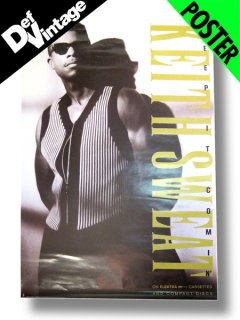 "1991 KEITH SWEAT ""Keep It Comin' ""Promotional Poster"