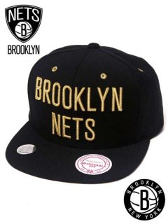 Brooklyn Nets Black & Gold Snapback