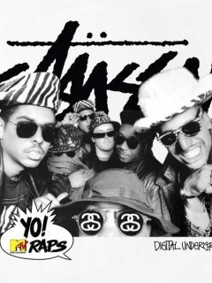 "STUSSY×Yo! MTV Raps ""Digital Underground"" T-Shirt"
