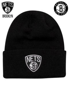 adidas Brooklyn Nets Cuffed Knit Beanie