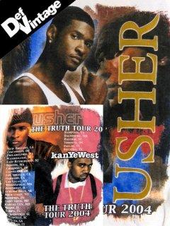 '04 USHER, KANYE WEST Tour T-Shirt
