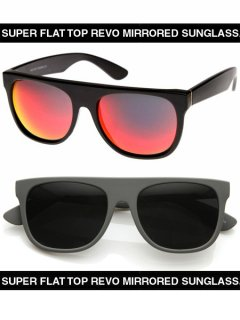 SUPER FLAT TOP REVO MIRRORED LENS SUNGLASSES