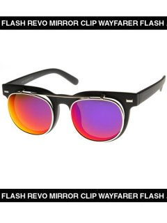 FLASH REVO MIRROR CLIP WAYFARER