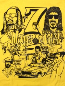 "Dam Funk & Snoopzilla By Joe Cool ""7 Days Of Funk"" T-Shirt"