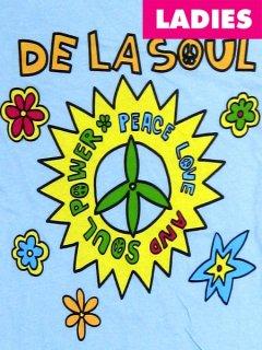 """De La Soul """"Peace Love & Soul""""  Junior Baby Doll T-Shirt"""