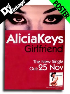 "'01 Alicia Keys ""Girlfriend"" Poster"