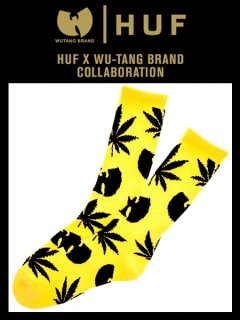 The Huf X Wu-Tang Plantlife Socks