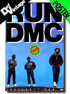"'88 Run DMC ""Tougher Than Lether""Original Promotional Poster"