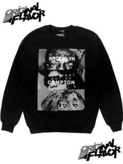 """The Notorious B.I.G. Eazy-E Tupac Brooklyn Compton LA"" Crewneck Sweatshirt"