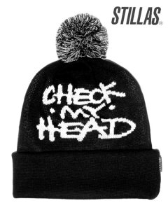 """CHECK MY HEAD"" Jaquard Beanie"