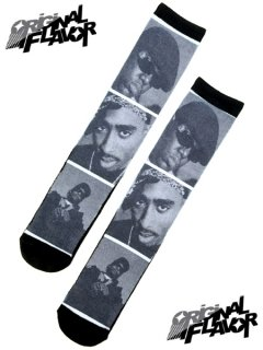 """The Notorious B.I.G. Eazy-E Tupac Brooklyn Compton LA"" Crew Socks"