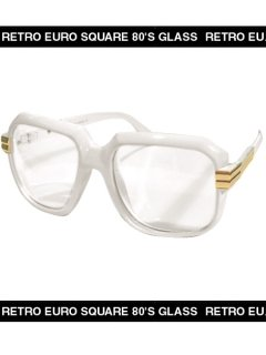 OLD SCHOOL RETRO SQUARE CLEAR LENS GLASSES