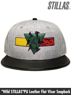 """Wild STILLAS""PU Leather Flat Visor Snapback"