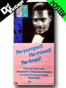 "'89 Alexander O'neal ""All Mixed Up"" Promotional Poster"