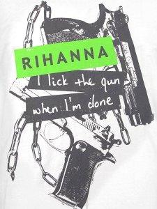 RIHANNA LICK THE GUN T-SHIRT
