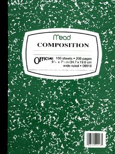 Composition Book GREEN