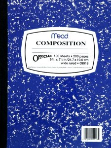 Composition Book NAVY
